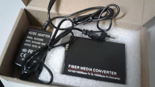 Conversor de Mídia 10/100/1000 para SFP Monomodo Single 12v  - ComputechLoja