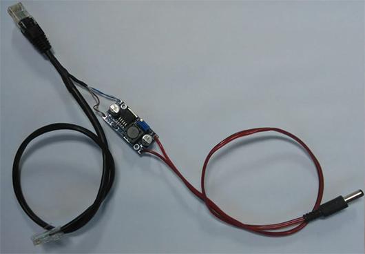 Conversor DC/DC com cabo Ethernet 10/100Mbps 24VDC para 5VDC ou 12VDC  - ComputechLoja