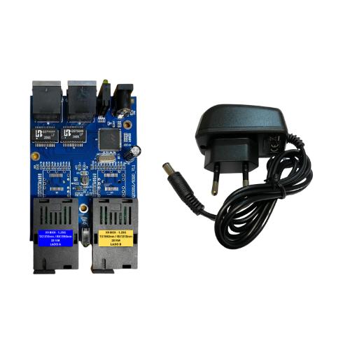 Conversor de Mídia PCBA Metro Gigabit X9 até 20 km - 2 SC / 2 GE  - ComputechLoja