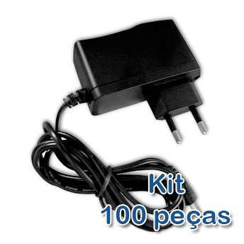 Kit 100 peças - Fonte de Alimentação 12V 500mA  - ComputechLoja