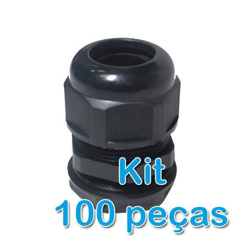 Kit 100 Peças - Prensa Cabo  - ComputechLoja