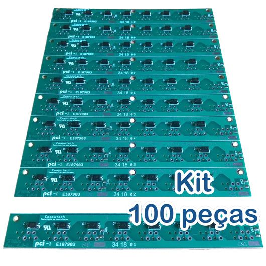 Kit 100 Placas PoE Reverso para Switch Intelbras Sf800q+ e Re115 com diodos  - ComputechLoja