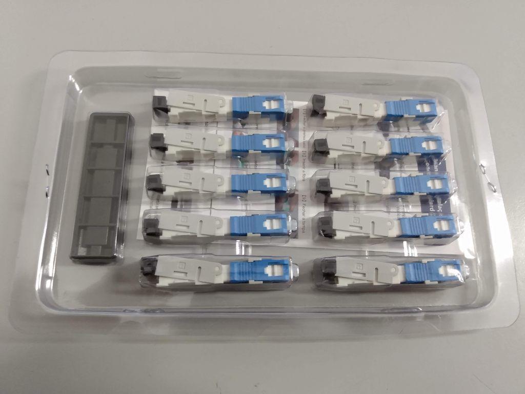 Kit 10 Conectores de Campo - Fast Connector SM SC/UPC   - ComputechLoja