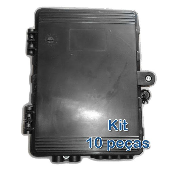 Kit 10 peças - Caixa Hermética Mini para Poste - PobreNet  - ComputechLoja