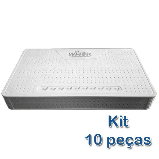Kit 10 peças - ONU PoE Reverso Gigabit + Porta GPON Wi-Tek (WI-G1)  - ComputechLoja