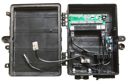 KIT 10 peças - Xwave PAC Switch 8 Portas Fast Ethernet com Conversor DC/DC  - ComputechLoja