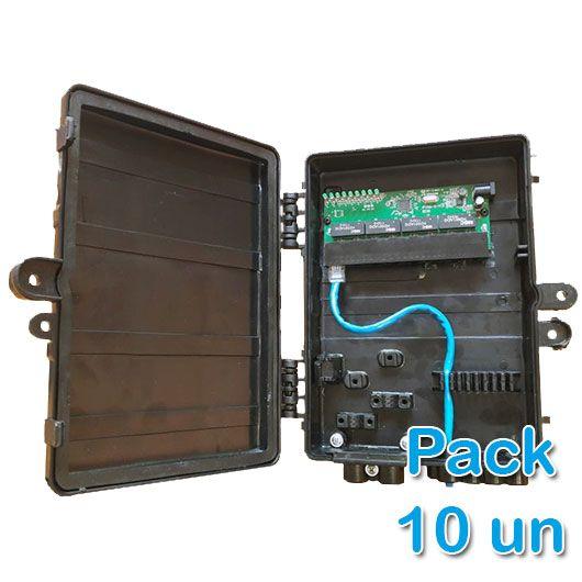 Kit 10 peças - Xwave PobreNet PAC Switch 8 Portas Fast Ethernet 12 - 48V  - ComputechLoja