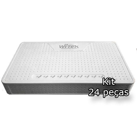 Kit 24 peças - ONU PoE Reverso Gigabit + Porta GPON Wi-Tek (WI-G1)  - ComputechLoja