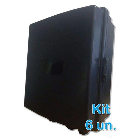 Kit 6 peças - Caixa Hermética Xwave para Poste  - ComputechLoja