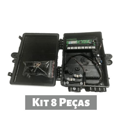 Kit 8 Pçs - Xwave Pobrenet Pac Switch 8 Fe Com Conv. Dc/dc  - ComputechLoja