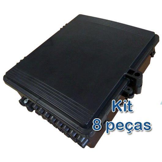 Kit 8 peças - Nova Caixa Hermética Xwave para Poste  - ComputechLoja