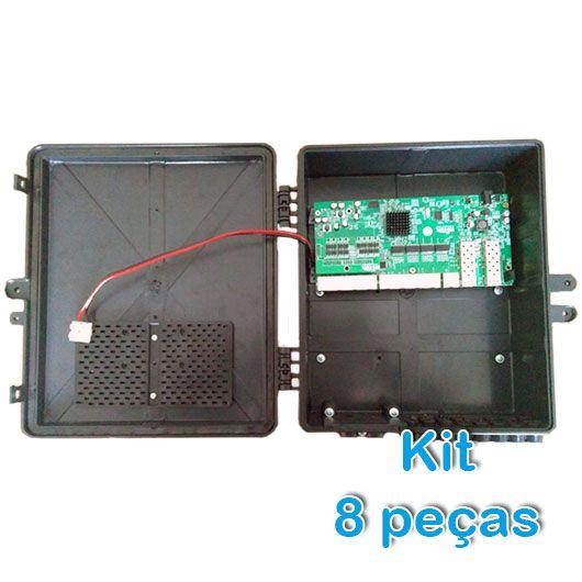 Kit 8 peças Xwave Metro Switch 8 portas (WI-PS310GFR)  - ComputechLoja