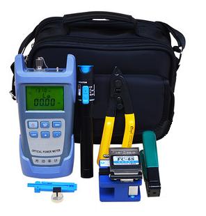 Kit Maleta para Fibra Óptica - Clivador, Power Meter, Visualizador, Decapador Flat e Alicate Flat 3 Network  - ComputechLoja