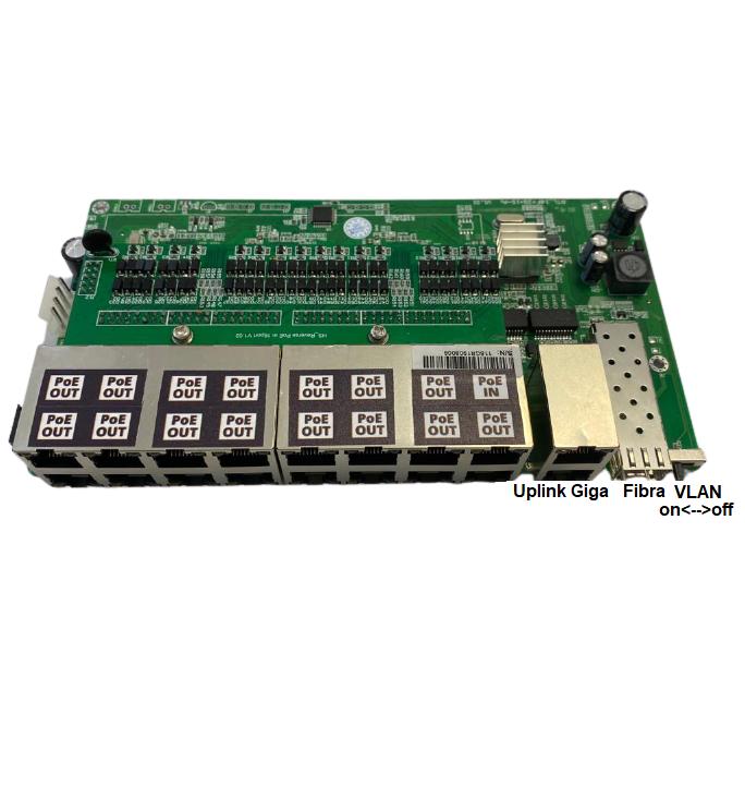 Placa Switch MegaPoE 16  - Computech Tecnologia Eireli
