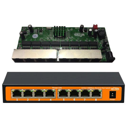 PCBA PAC Switch Fast 8 Portas Wi-Tek (WI-PS108R)  - ComputechLoja