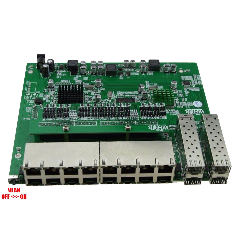 PCBA Xwave Metro Switch 16 portas + 4 portas SFP (WI-PS120GFR)  - ComputechLoja