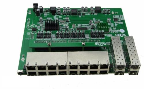 PCBA Xwave Metro Switch 16 portas + 4 SFP (WI-PS120GFR)  - ComputechLoja