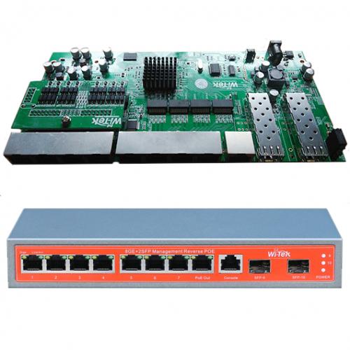 PCBA Xwave Metro Switch 8 portas Gerenciável (WI-PMS310GFR)  - ComputechLoja