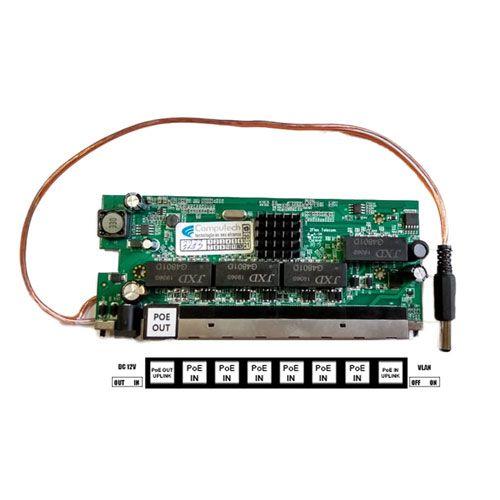 Placa Xwave PobreNet Giga - PCBA com cabo 12v P4/P8  - ComputechLoja