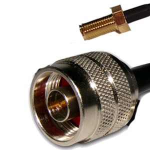Pigtail SMA-RP Fêmea para N Macho - 49 cm  - ComputechLoja