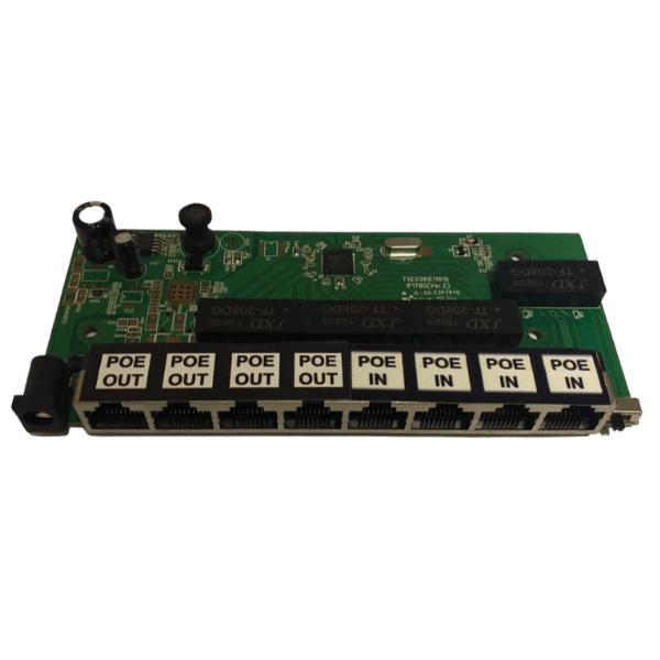 Placa Xwave PobreNet 4X4 PAC Switch 8 Portas 4 POE IN 4 POE OUT Fast Ethernet 12 - 48V - PCBA  - ComputechLoja
