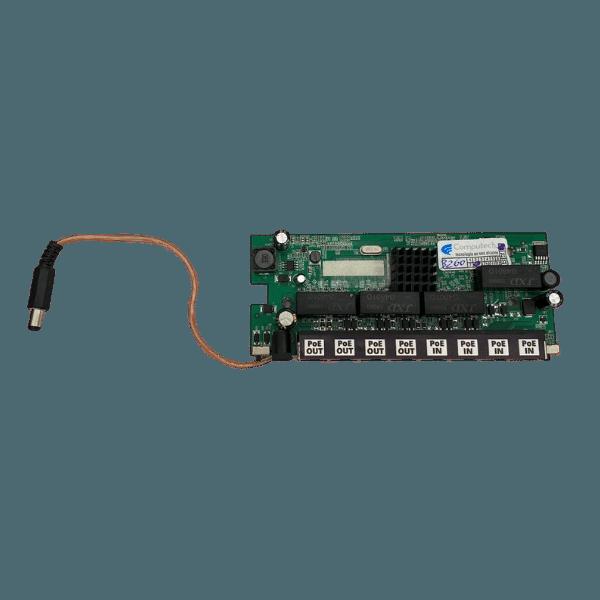 Placa Xwave Pobrenet 4x4 Pac Switch 8 Portas 4 POE In 4 POE Out Giga Ethernet 12 - 48V - PCBA  - ComputechLoja
