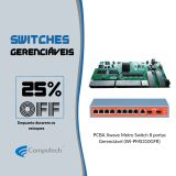 25% OFF Switches Gerenciáveis