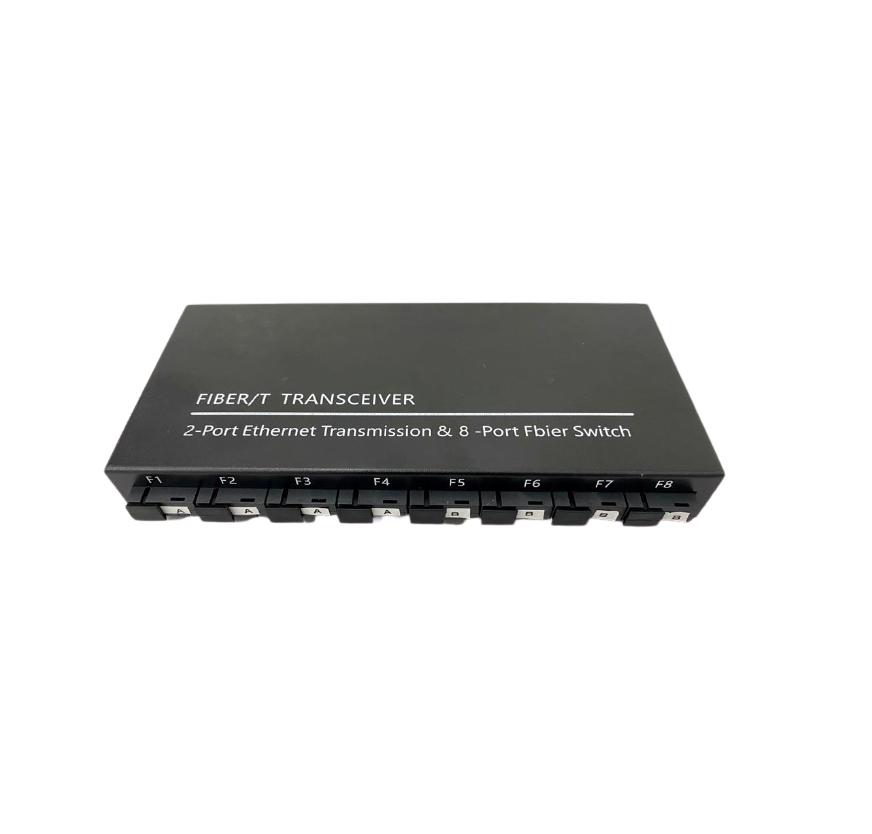 Switch para Backbone de Fibra 8FO + 2GE para PTP ou FTTH Metro  - ComputechLoja