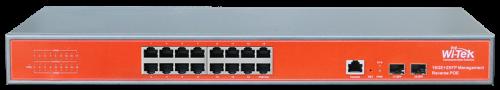 Wi-Tek Switch PoE Reverso Gerenciável 16GE + 2SFP (WI-PMS318GFR)  - ComputechLoja