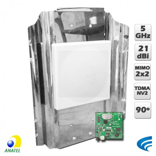Xwave MegaPOP MIMO 5 GHz - RB912UAG-5HPnD Porta Gigabit  - ComputechLoja
