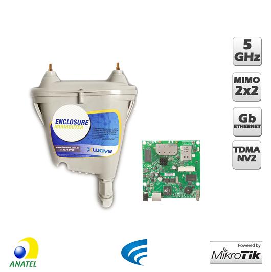 Xwave Mini Router - 5 GHz MIMO - RB912UAG-5HPnD, Porta Gigabit  - ComputechLoja