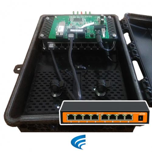Xwave MultiBox PACPON EPON OIW Switch PoE Reverso 24V Wi-Tek  - ComputechLoja