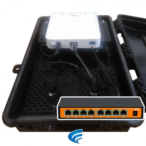 Xwave MultiBox PACPON GPON FiberHome Switch PoE Reverso 24V Wi-Tek  - ComputechLoja