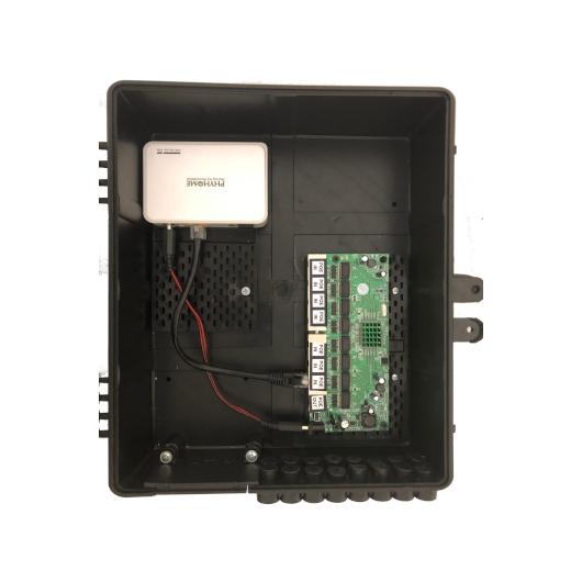 Xwave PAC EPON 8 portas GIGABIT Gerenciável + ONU (WI-PMS308GR)  - ComputechLoja