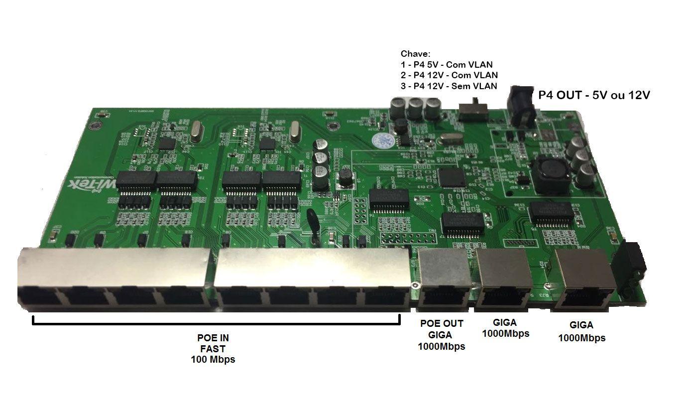 Xwave PAC Switch 8 Portas Fast + 3 Portas Gigabit (WI-PS111GR)  - ComputechLoja