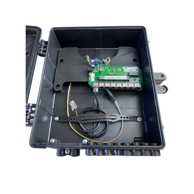 Xwave PobreNet 2.0 PAC Switch 8 Portas Fast Ethernet VLAN-BRIDGE 24v com Caixa e Conversor  - ComputechLoja