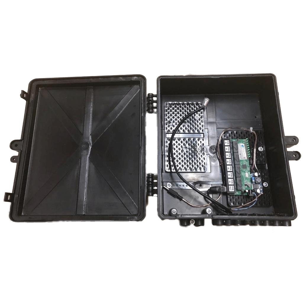Xwave PobreNet PAC Switch 8 Portas Fast Ethernet com Conversor DC/DC - Caixa Grande  - ComputechLoja
