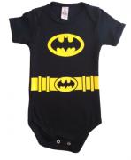 Body menino manga curta Batman