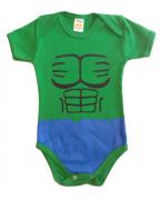 Body menino manga curta Hulk