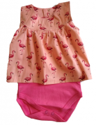 Body Vestido Suedine Flamingo