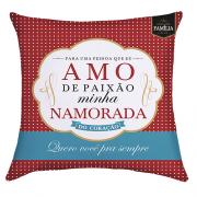 CAPA DE ALMOFADA - AMO DE PAIXAO MINHA NAMORADA