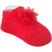 Sapatilha Flor Vermelha