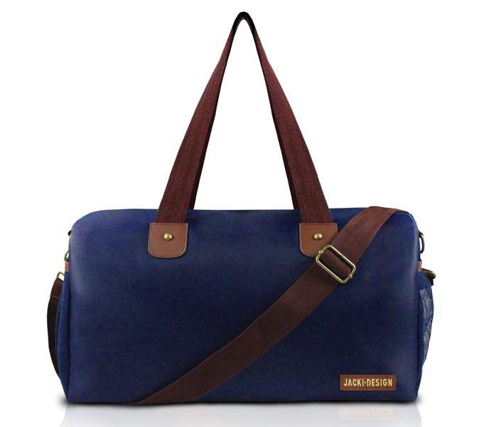 Bolsa de Viagem/Academia Masculina Azul/Marrom