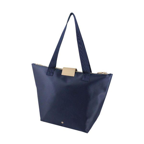 Bolsa Dobrável Tam. G Lisa  Azul Escuro