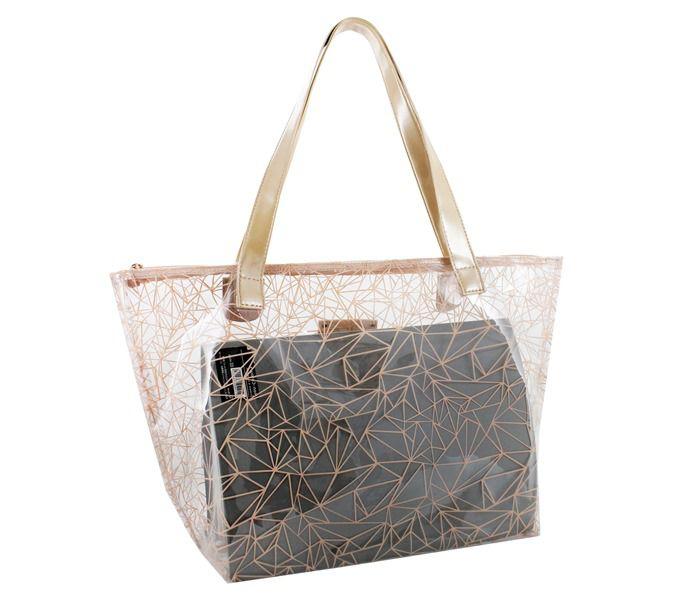 Bolsa Shopper Transparente Jacki Design