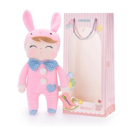 Boneca  de Pelucia  Angela Pink Bunny - Metoo