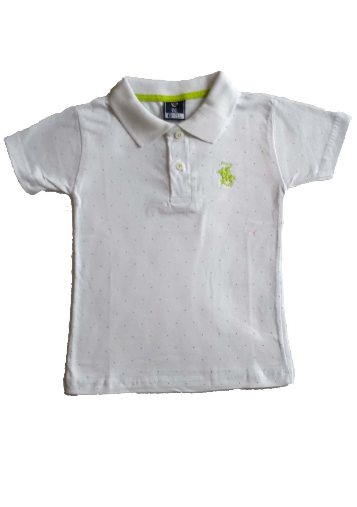 CAMISETA POLO ESTAMPADA/BORDADO BRANCA