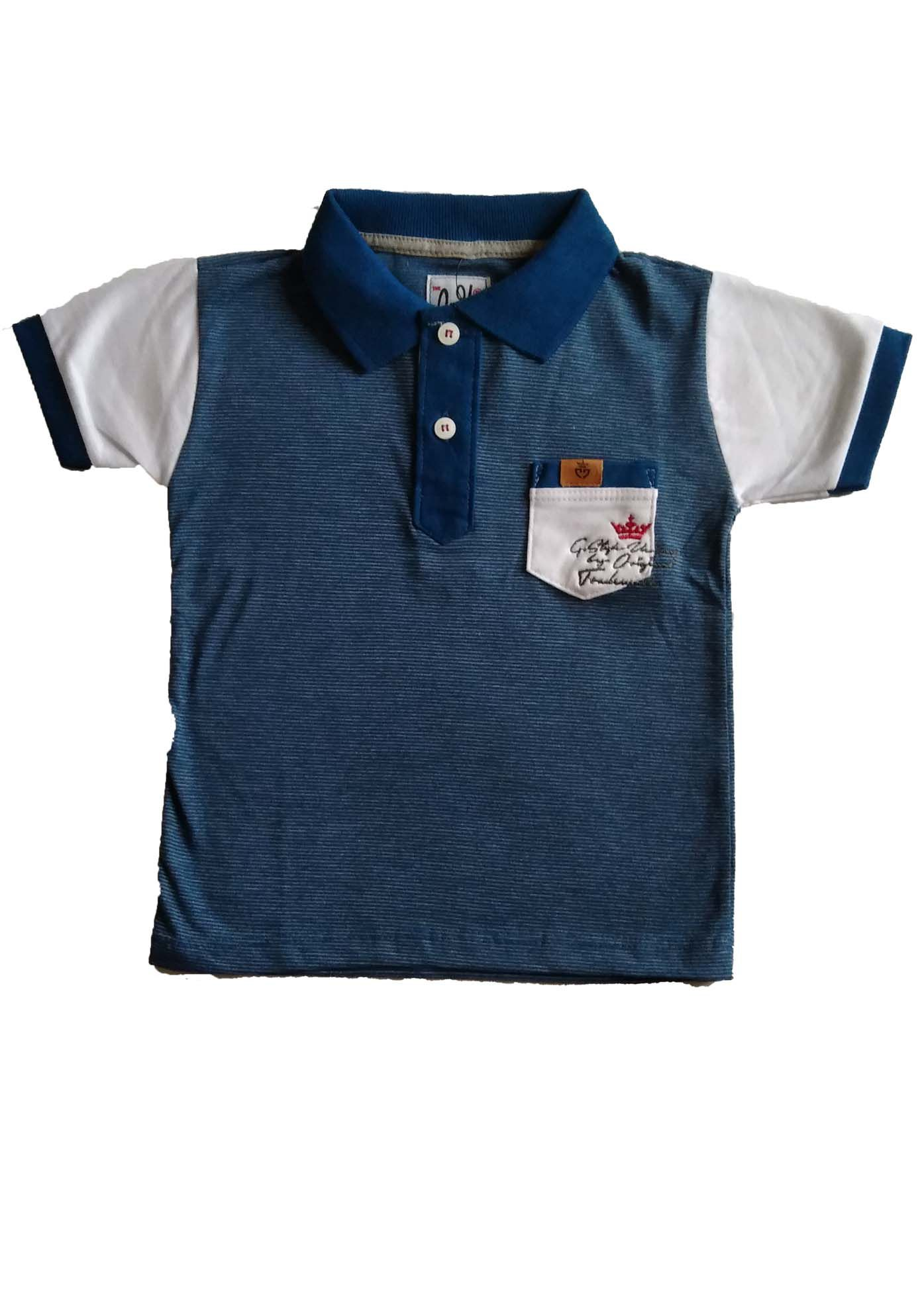 CAMISETA POLO ESTAMPADA E BORDADA