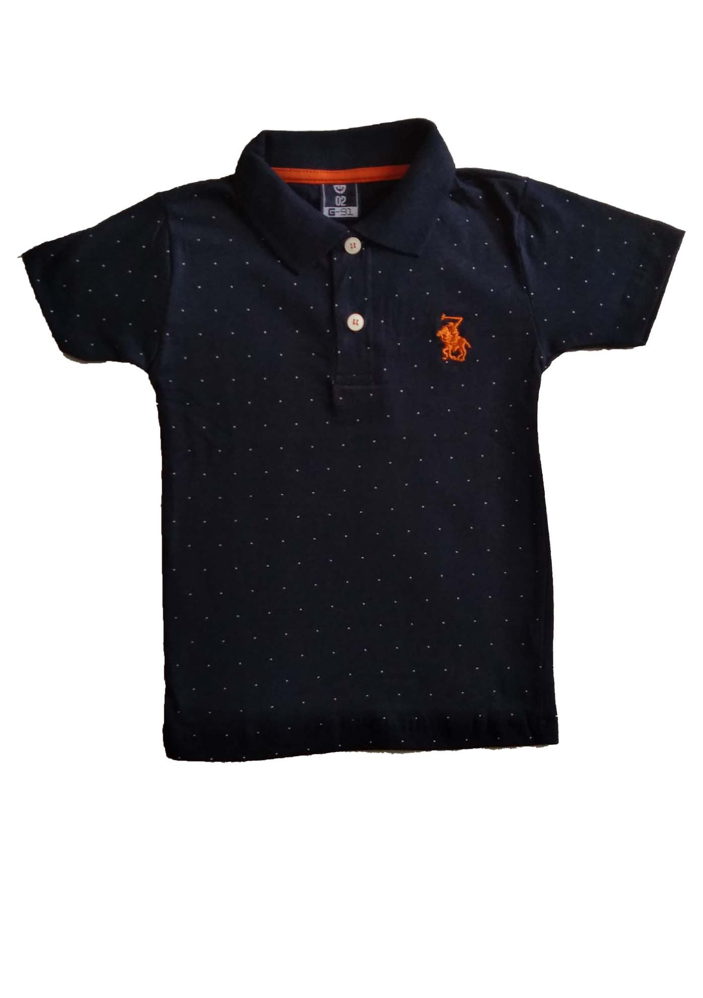CAMISETA POLO ESTAMPADA E BORDADO