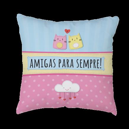CAPA DE ALMOFADA - AMIGAS PARA SEMPRE